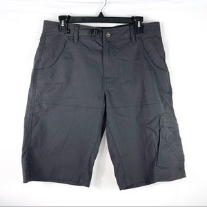 Prana Zion Shorts Mens Sz 32WX12L Gray